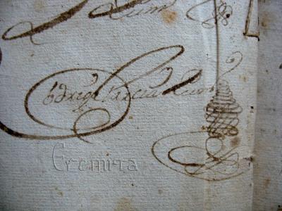 Detalle firma siglo XVI