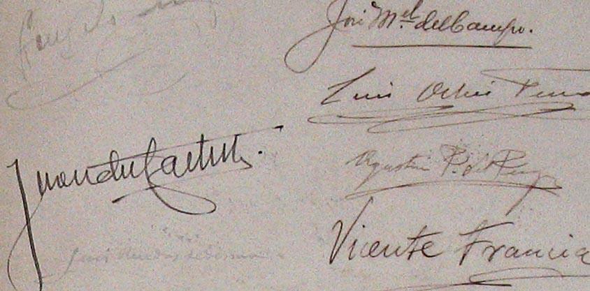 Firmas del acta